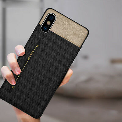 Luxury Cloth Leather Shockproof Card Wallet Gift Case Cover for iPhone Xs Max