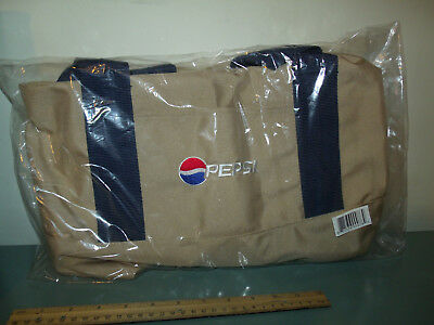 Pepsi Cola Vintage Tan Duffle Tote Athletic Gym Bag in Original Shipping Box