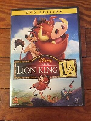 Walt Disney's THE LION KING 1 1/2 (DVD, 2012, DVD Edition) OOP Rare Kids