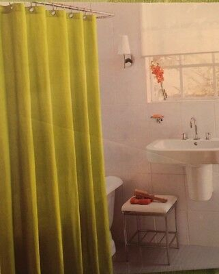 NEW Fabric SHOWER CURTAIN 72x72 GREEN 100 COTTON Grommets HOME Target