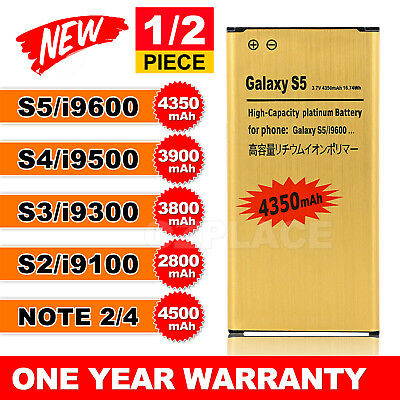 New Li-ion Replacement GOLD Battery For Samsung Galaxy S3 S4 S5 Note 2 3 4 OZ
