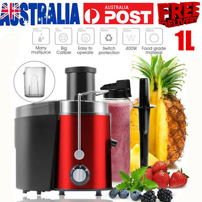 400W Electric Fruit Vegetable Juicer Machine Juice Extractor Stainless Steel 1L