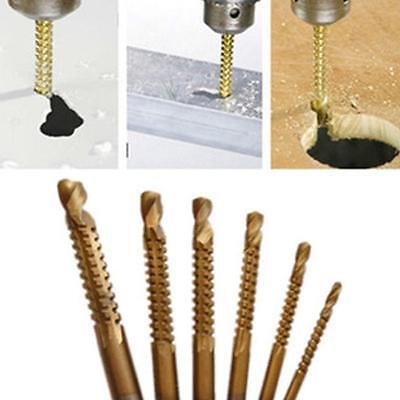 Practical Ti Drill Bit Woodworking Wood Metal Cutting Hole Saw Holesaw 6Pcs OO