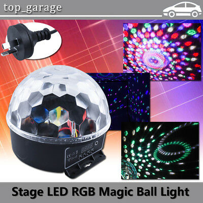 6CH DMX512 RGB LED Disco DJ KTV Party Crystal Magic Ball Stage Effect Light Lamp