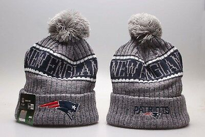 New England Patriots  Football Beanie Cap Hat Kint Pom 2019 Winter Unisex