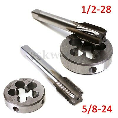 1/2-28 5/8-24 UNEF Hand Thread Tap + Round Die Right Hand Cutting Tapping Tool