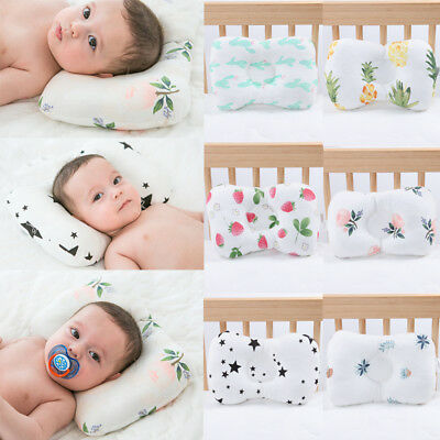 Baby Infant Pillow Newborn Anti Flat Head Syndrome for Crib Cot Bed NeckSupport