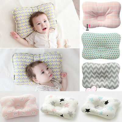 Newborn Baby Infant Cotton Pillow Positioner Prevent Flat Head Anti Roll Soft