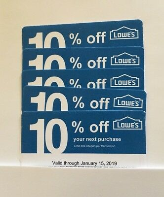 5 Lowe's Blue Card 10% Off For Home Depot + Other Comp Not Lowe's  Exp 06/15/19