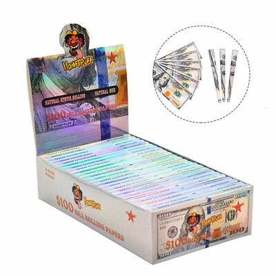 24 Pcs $100 Dollar Bill Rolling Papers 1 Wallet Creative Dollar Cigarette papers