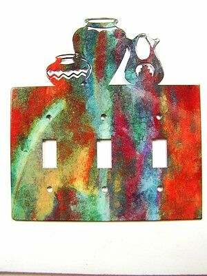 Pueblo Triple Light Switch Cover Plate by Steel Images USA 030515A