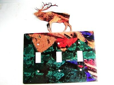 Reindeer Triple Light Switch Plate by Steel Images Made In USA 6215xx