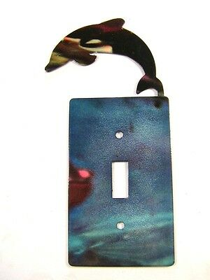 Porpoise / Dolphin Single Switch Cover Plate by Steel Images 42715
