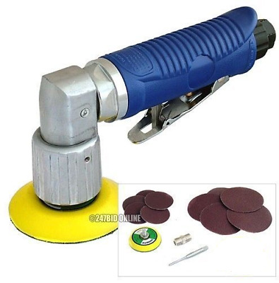 Mini Dual Action Air Sander Tool Orbital 10 Discs & 50mm & 70mm Sanding Pads