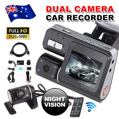 Dual Car Camera True HD 1080P G-sensor Recorder Crash Cam H 264 Dash DVR Camera