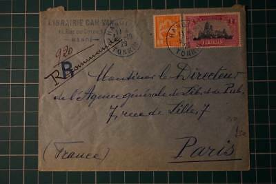 Early Indo China registered cover to france