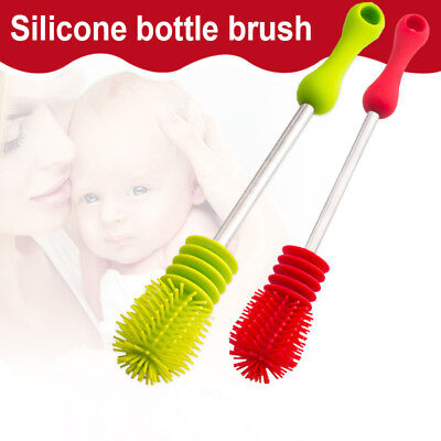 Durable Silicone Baby Milk Bottle Brush Cleaner Cleaning Soft Cleaner Brusher