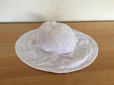Girls White Sun Hat 6 - 10 years