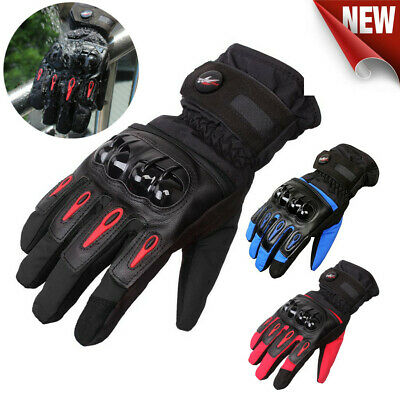 Motorcycle Gloves Waterproof Motorbike Bike Warm Thermal Winter Quality MTV08