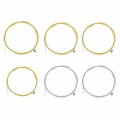 6pcs Metal Steel Strings for Acoustic Guitar E A D G h(b) and e string 5SET