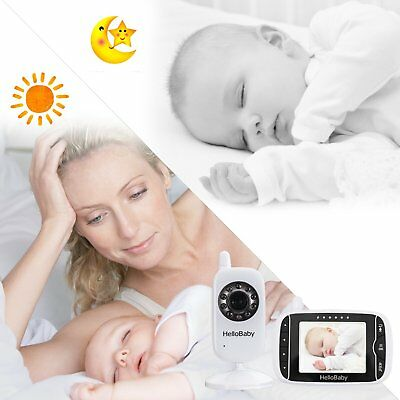 HelloBaby 3.2 Inch Video Baby Monitor with Night Vision Camera