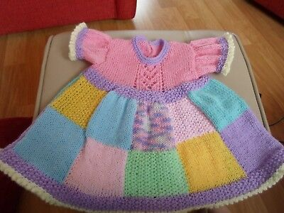 Hand Knitted Babies Dress 0-3 MTHS