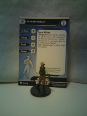 Star Wars Miniatures Bounty Hunters Human Scout 48/60 with card