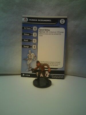 Star Wars Miniatures Bounty Hunters Human Scoundrel 47/60 with card
