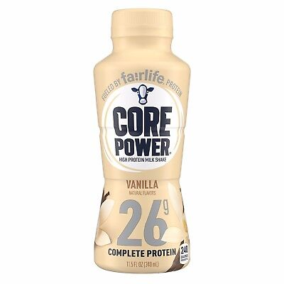 12 pack of Core POWER Vanilla Protein shake