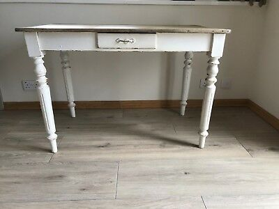 Small Victorian rustic pine kitchen table