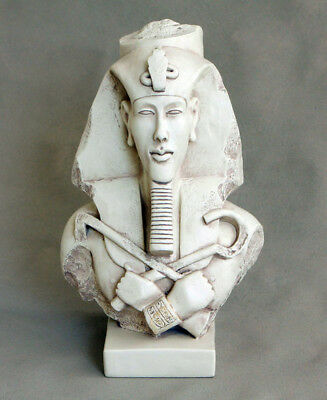 Akhenaten Akhenaton Egyptian Pharaoh head bust sculpture statue museum replica