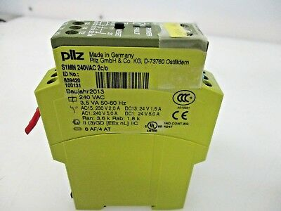 Pilz 839400 S1MN Ex 24VAC//DC 2c//o Safety Relay Single Channel With 2 Contacts