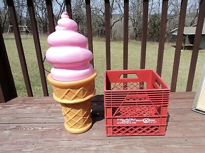 Vintage Ice Cream Cone With Pink Top Safe-T Cup 26' Tall