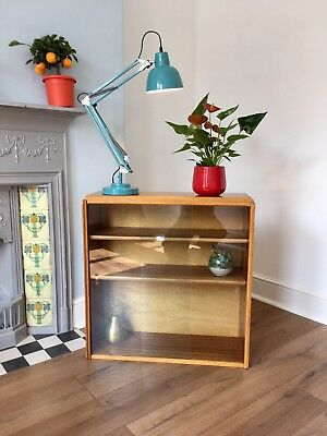 Mid century 1950s Bookcase / Display cabinet, Shelves, Blonde, scandinavia