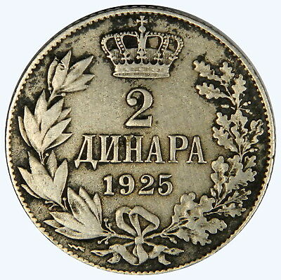 1925 Yugoslavia 2 Dinara ~ Priced Right!