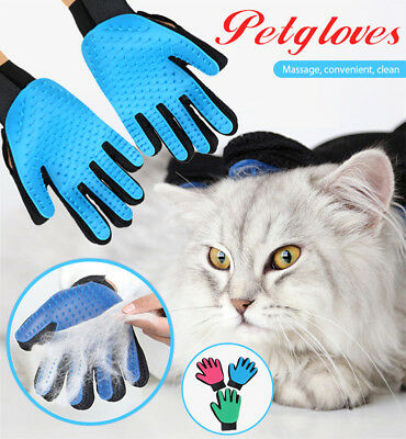 Pet Grooming Glove Bath Wash Massage Fur Cleaning Hair Removal Brush for Dog Cat