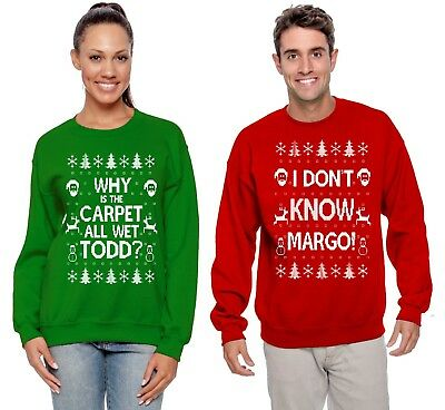 Todd And Margo Couples Christmas Sweaters Funny Carpet Holiday Humor Sweatshirts