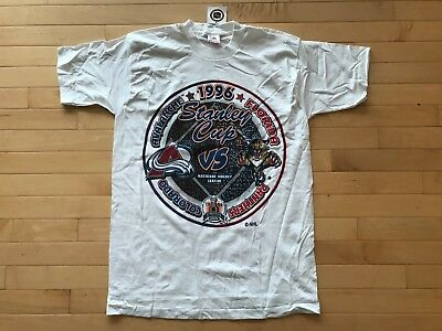 Vintage Colorado Avalanche T Shirt Mens Sz M 1996 Stanley Cup Champions New  NWT c74a4ccdc