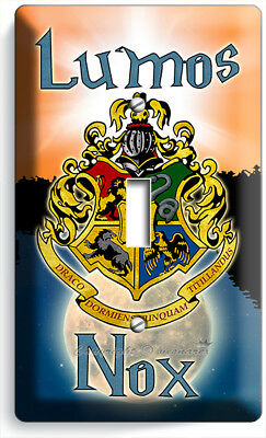 Harry Potter Lumos Nox Hogwarts Coat Of Arms 1 Gang Lightswitch Wall Plate Decor