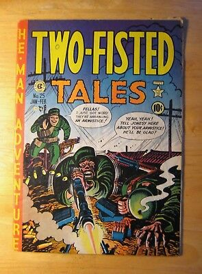 EC TWO-FISTED TALES #25 1952 (VG+) Great Kurtzman Cvr! Bright, Colorful!