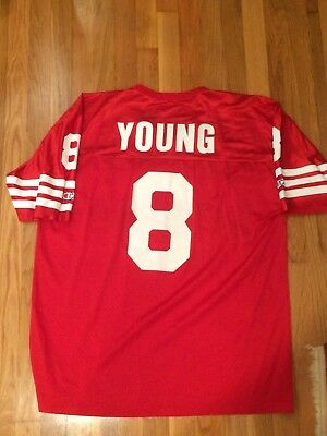 Rare Vintage Champion Steve Young San Fransisco 49ers Jersey Size Mens 44  HOF 102aa2bc6