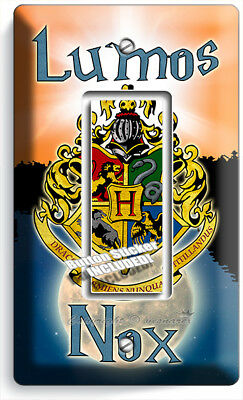 Harry Potter Lumos Nox Hogwarts Coat Of Arms 1 Gfci Lightswitch Wall Plate Decor