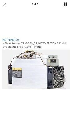 ANTMINER D3 /20 Ghz Limited Edition