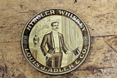 ANTIQUE Pre-Prohibition Louis Adler Co. HYROLER WHIKSEY- PITTSBURGH PA TIP TRAY