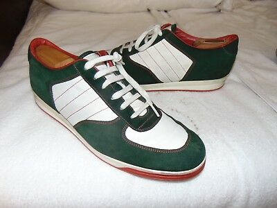 af8883c21 Gucci Mens Shoes 1984 Low Top Sneaker Nylon Suede Green / White / Red US  11.5