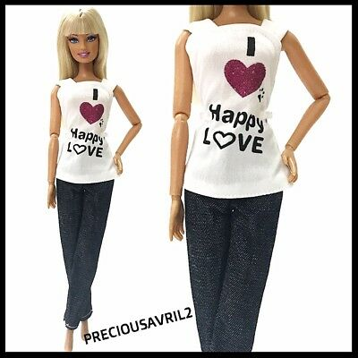 Brand new barbie doll clothes clothing outfit casual summer top & pants