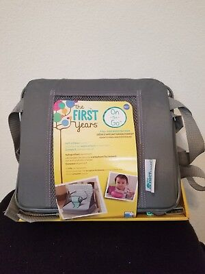 The First Years On-The-Go Booster Seat, new gray green
