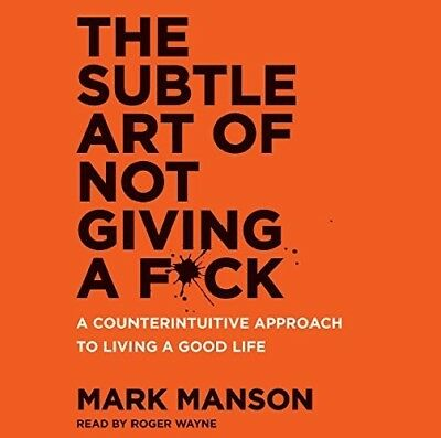 The Subtle Art of Not Giving a F*ck by Mark Manson (audio book)