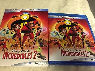 Incredibles 2(Blu-Ray+Dvd)W/slipcover