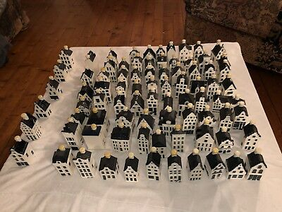 Huge collection of KLM Delft pottery dutch houses total of 82 all sealed HEAVY!